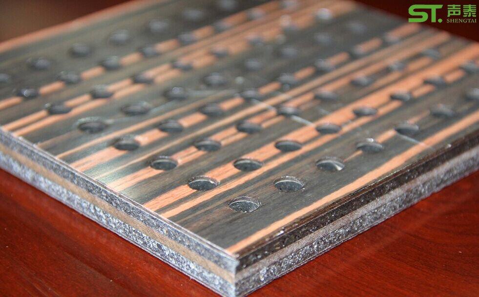 木皮复合圆孔吸音板