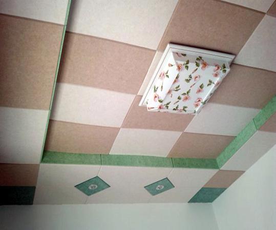 聚酯纤维吸音板天花吊顶装饰效果图
