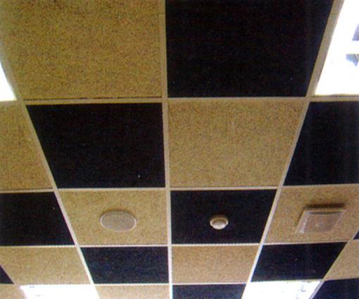 木丝吸音板吊顶效果图